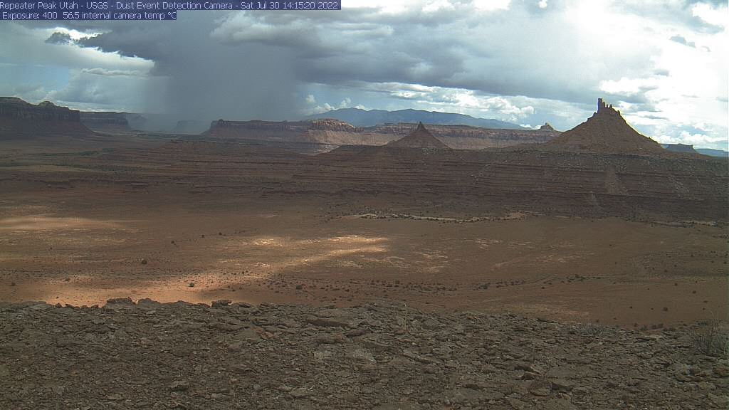 Photo from the Six Shooter Peaks webcam
